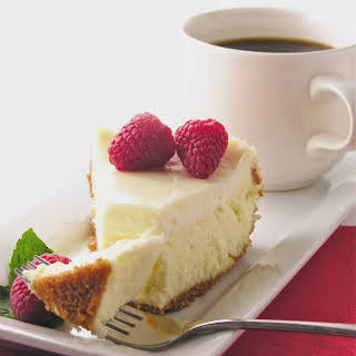 Classic Cheesecake with Sour Cream Topping.