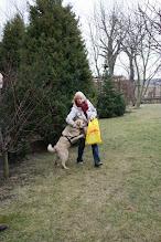 Photo: Do nowego domku pojechał BIAŁY :) Dzisiaj odwiedziliśmy Psi Raj i moja ma wspaniałego nowego przyjaciela! Biały (teraz Misiek) cały czas domagał się pieszczot i zamiast planowanej suczki z krótkim włosem zdecydowaliśmy się na kudłatego psa. Misiek jest niesamowity, bardzo wesoła przylepa, która od razu zaprzyjaźniła się z naszymi dwiema suczkami. Będzie mieszkał w Elblągu, chodził na długie spacerki i biegał po ogrodzie, a co najlepsze nie będzie siedział sam w domu, bardzo dziękujemy za wspaniałego pieska!