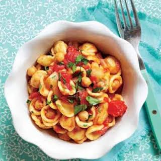 Orecchiette With Rustic Tomato Sauce And Chickpeas.