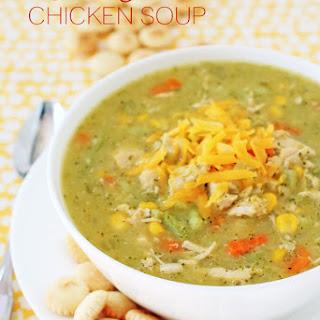Cheddar Broccoli Chicken Soup.