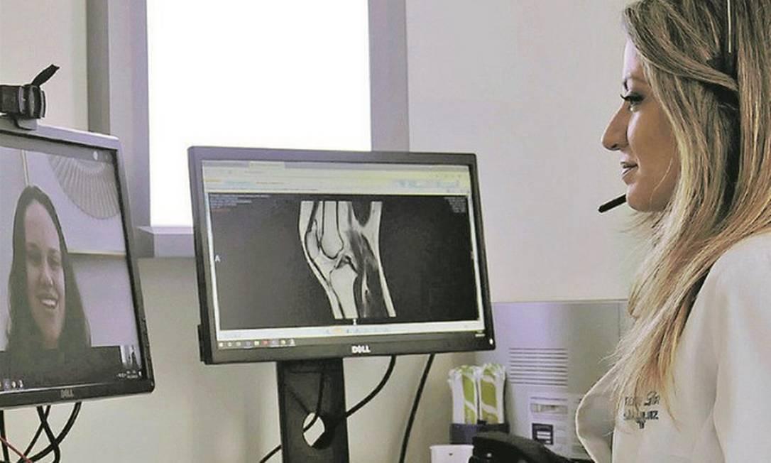 Na Rede D'Or São Luiz, os investimentos em tecnologia devem crescer 60% este ano. Áreas visadas pelo grupo hospitalar incluem telemedicina, prontuário digital e visitas virtuais a pessoas que estão internadas Foto: Divulgação/Rede D'Or