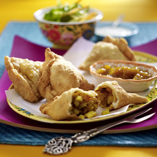 Cauliflower and Potato Samosas with Mango Chutney