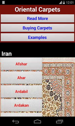 Oriental and Persian Carpets