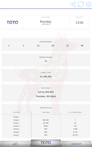 Fast Singapore Pools Toto 4D Result by Bricatta (Google Play