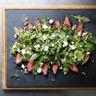 Marinated Flank Steak Salad with Feta and Arugula