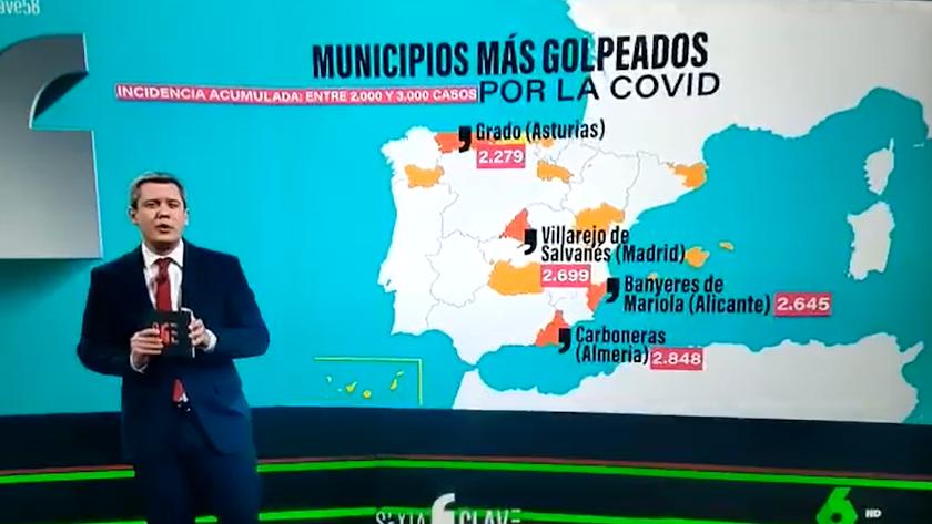 Captura de pantalla del programa La Sexta Clave.