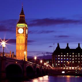 Big Ben by Anz Defensor - Buildings & Architecture Bridges & Suspended Structures ( building, bridge )