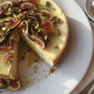 Goat's Cheese Cake With Figs and Honey.