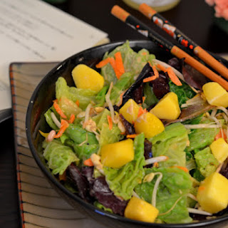 Asian Salad with Cashew Ginger Dressing