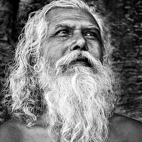 Researcher of god by Avishek Mazumder - People Portraits of Men ( senior citizen, pwcemotions )