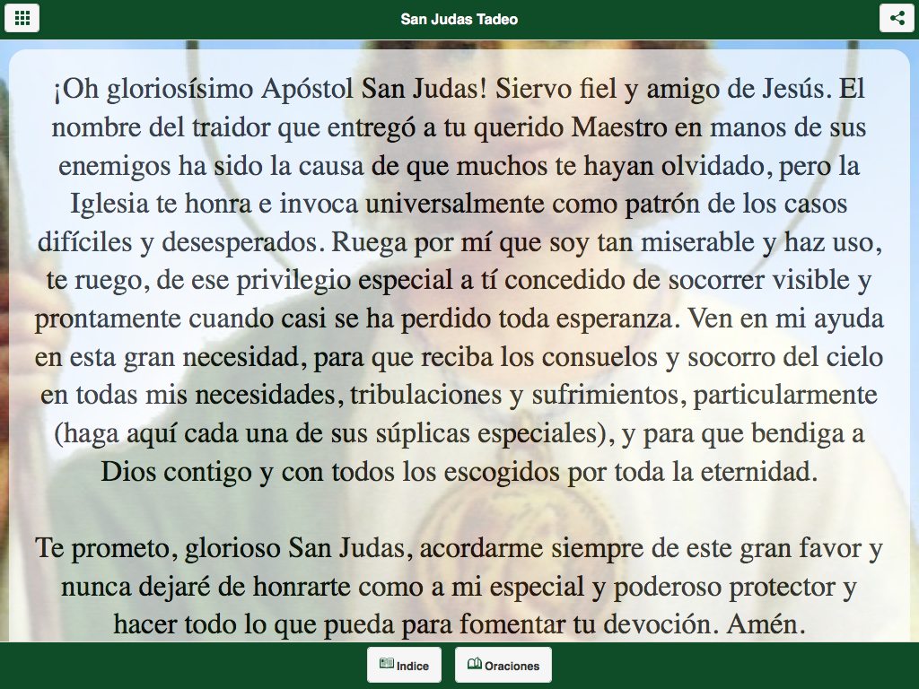 San Judas Tadeo- screenshot