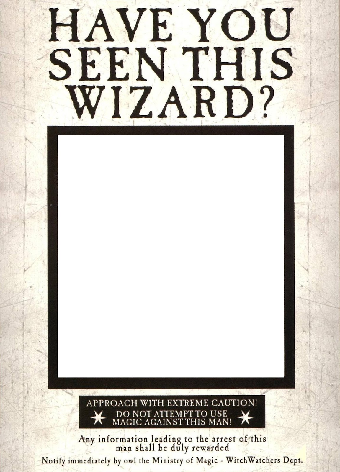Have You Seen This Wizard? Wanted Poster pregnancy annoucement
