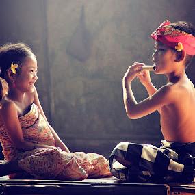 Me and My Sister by Irvan Darmawan - Babies & Children Children Candids