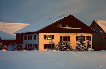 Photo: Hier hatten wir 28 Jahre gewohnt. Winterabendsonne 1985