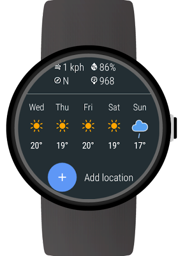 Weather for Wear OS (Android Wear) 1.0.190312 screenshots 2