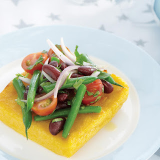 Broiled Polenta with Festive Bean Salad