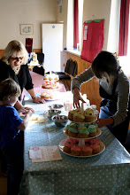 Photo: The Saturday Market - Country Cup-Cakes stall © The Priston Festival 2009, photo: Richard Bottle