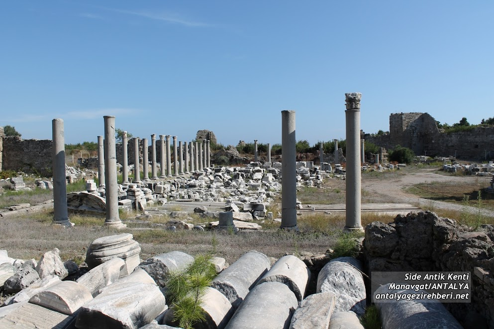 side antik kenti anıtsal çeşme