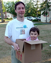 Photo: Baby in a Box! Greg and Timea