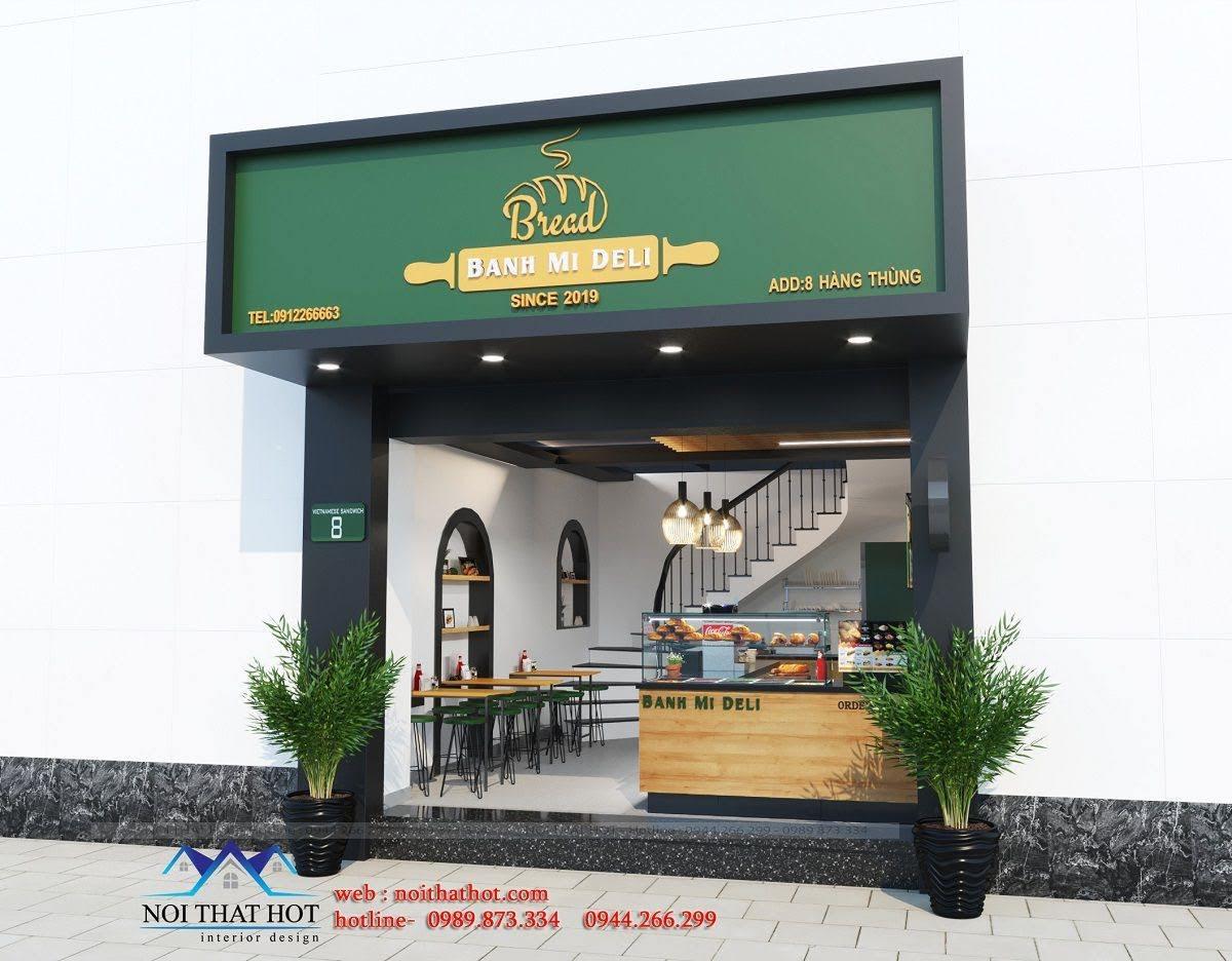 thiết kế cửa hàng bánh mì deli