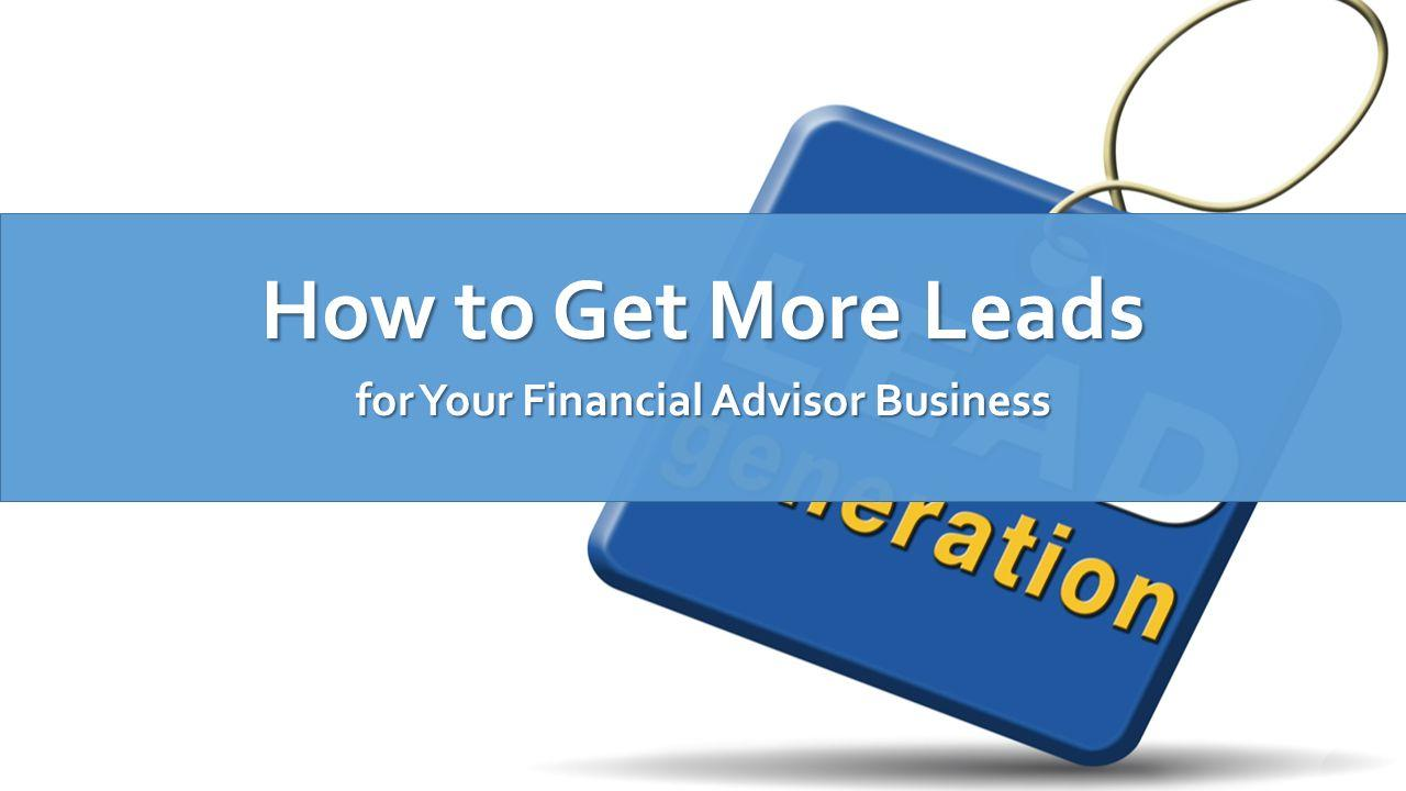 Image result for images for financial advisor leads