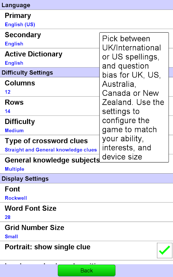 Crossword Unlimited +- screenshot