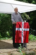 Photo: Formand for Fællesrådet, Jørgen F. Bak byder velkommen