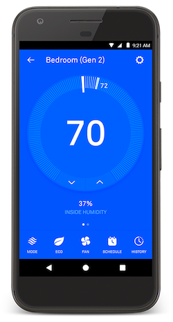 nest thermostat app cooling