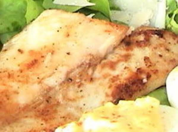Blackened Red Snapper Salad With Devil Eggs Recipe