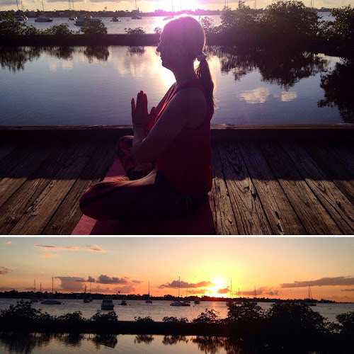 Yoga at Sunset Stuart Florida | Krys Kolumbus Travel Blog