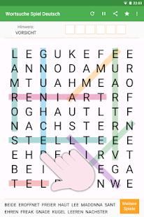 Wortsuche Spiel Deutsch
