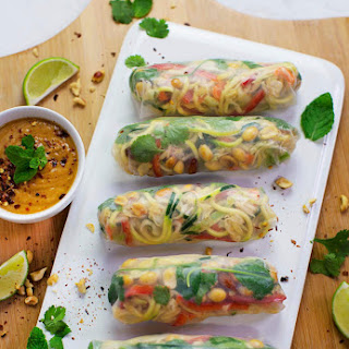 Mostly Raw Pad Thai Spring Rolls October 11, 2016