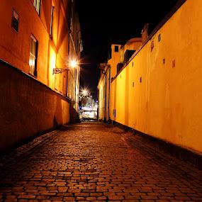Old City by Awais Javed - City,  Street & Park  Street Scenes ( sweden, old, stockholm, old city, city )