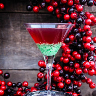 Green Candy Cane Crush Peppermint Martini