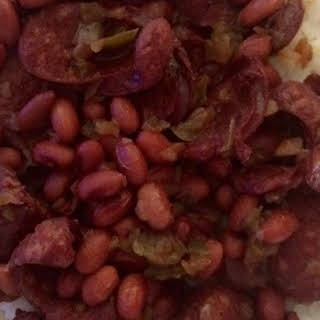 Pressure Cooker Red Beans and Sausage.