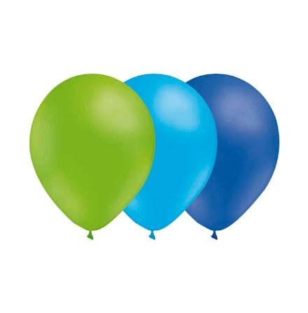 Ballongkombo Limegrön - Ljusblå - Blå
