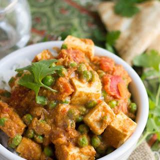 Vegan Tofu Matar Paneer