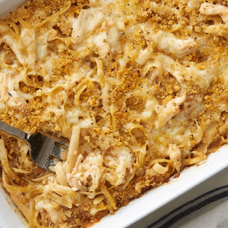 French Onion Chicken Pasta Casserole.