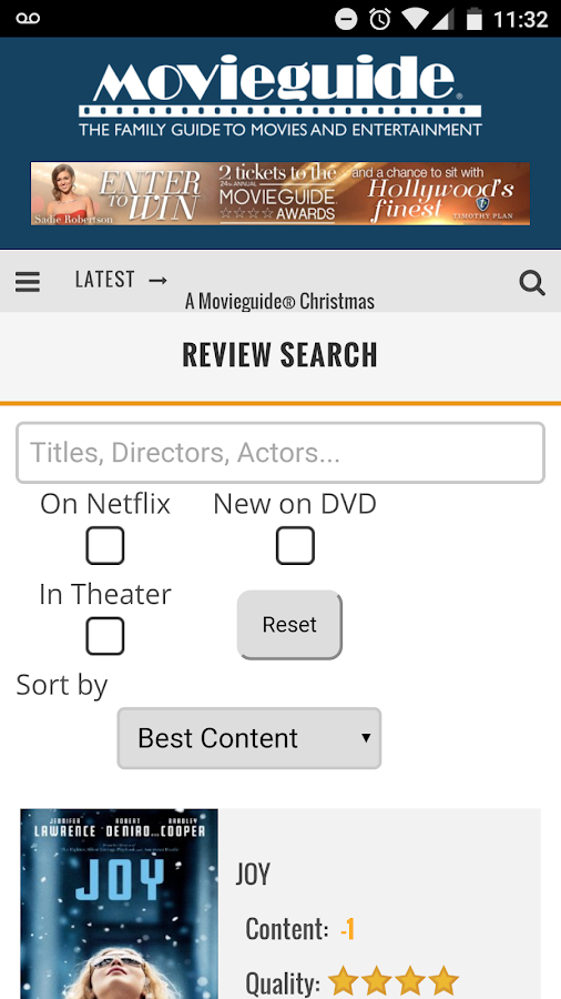 Movieguide®- screenshot
