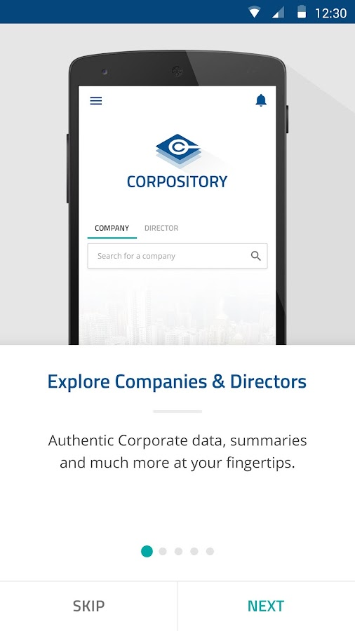 Corpository- screenshot