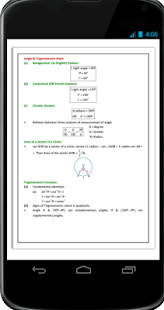 Angle & Trigonometric Ratio Formula Ebook - náhled