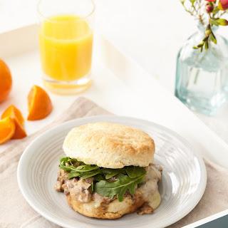 Vegetarian Biscuit and Gravy Sandwiches