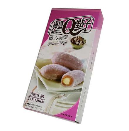 Taro Milk Mochi Roll 150g He Fong