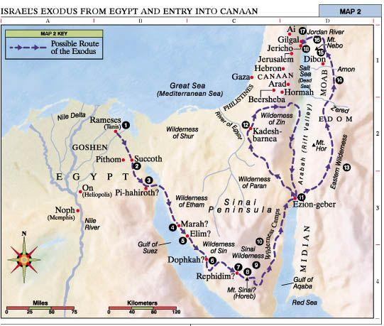 Hyksos/Israel's Exodus From Egypt and Entry into Canaan. Starting point of  expulsion is the Hyksos' infamous stronghold… | Bible mapping, Books of the  bible, Exodus