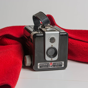 Brownie by Eva Ryan - Artistic Objects Antiques ( red, tabletop_photography, hawkeye, antique, camera, brownie, kodak,  )