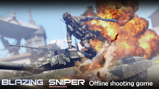 Blazing Sniper - offline shooting game 1.8.0 screenshots 1