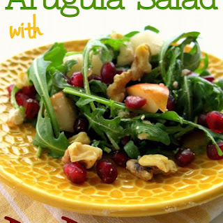 Pomegranate, Pear, and Arugula Salad