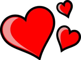 Three hearts clipart - Clipartix