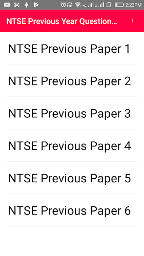 Free pdf download NTSE Previous questions papers APK
