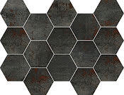 Mosaik Hexagon Metal Titanium